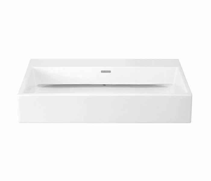 Lavabo rectangular de sobreponer (apoyo) KADER® (opción a perforar) : STANZA