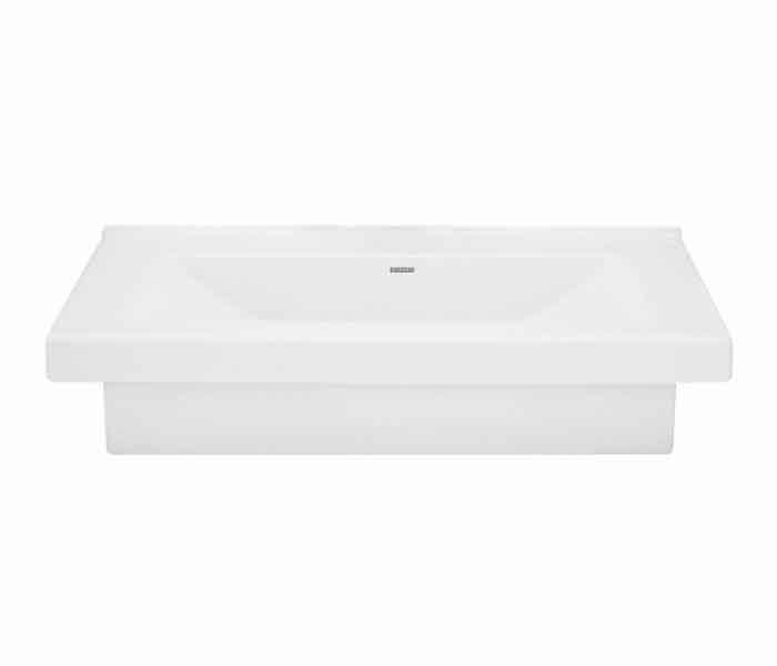 Lavabo rectangular de sobreponer (apoyo) y semi-encaje KADER® : STANZA