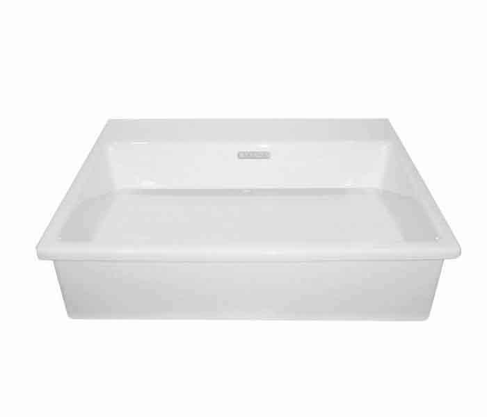 Lavabo rectangular de semi-encaje. KADER® (opción a perforar) : STANZA