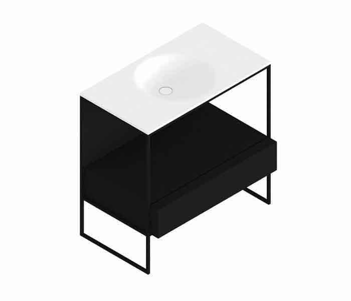 Mueble de baño con lavabo y cajón. MORPHING® : STANZA