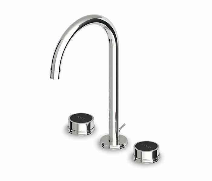 Mezcladora alta con desagüe automático para lavabo SAVOIR Cromo : STANZA