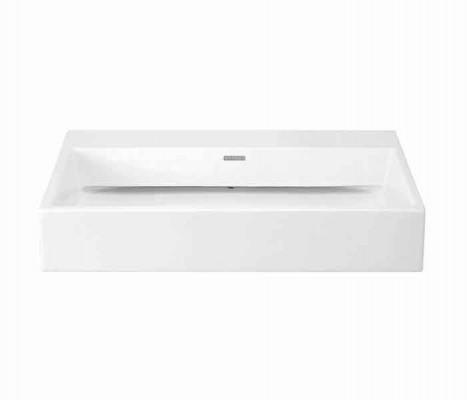 Lavabo rectangular de sobreponer (apoyo) KADER®® (opción a perforar) : STANZA