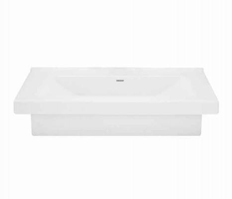 Lavabo rectangular de sobreponer (apoyo) y semi-encaje KADER®® : STANZA