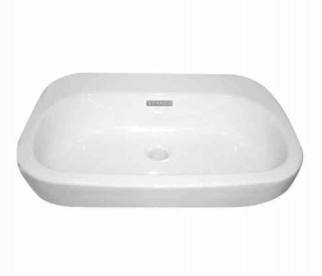 Lavabo con cubierta de sobreponer (apoyo) OVALE® (opción a perforar) : STANZA
