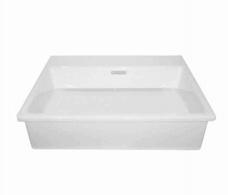 Lavabo rectangular de semi-encaje. KADER®® (opción a perforar) : STANZA