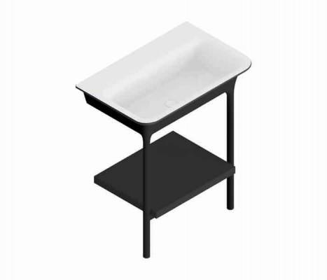 Mueble de baño con lavabo y repisa. MORPHING® : STANZA