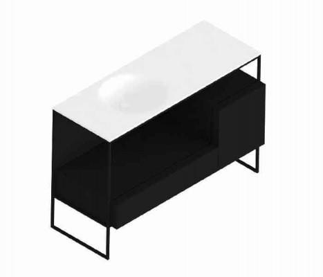 Mueble de baño freestanding con cajonera. MORPHING® : STANZA