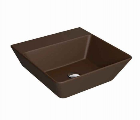 Lavabo rectanguar de sobreponer KADER® Marrón : STANZA
